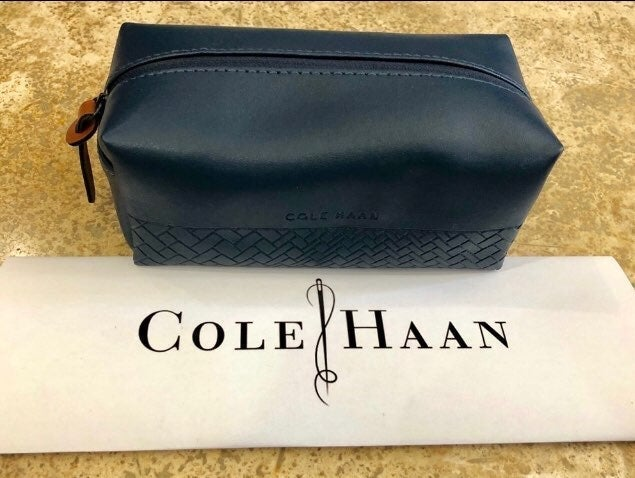 NWT! Cole Haan Gray Toiletry Bag