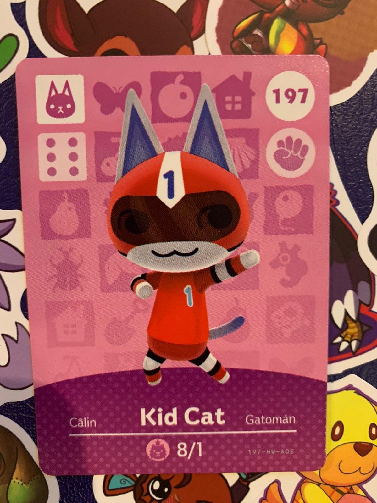 Kid Cat Animal Crossing Amiibo Card