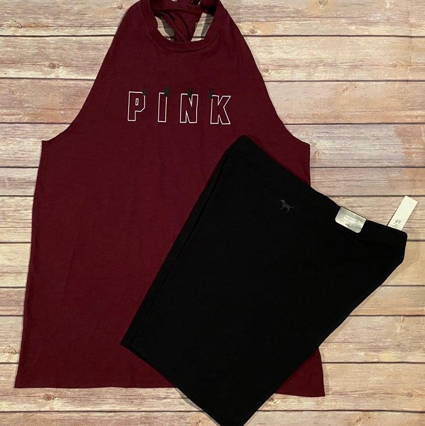 VS PINK Twist Back Tank Bike Short L