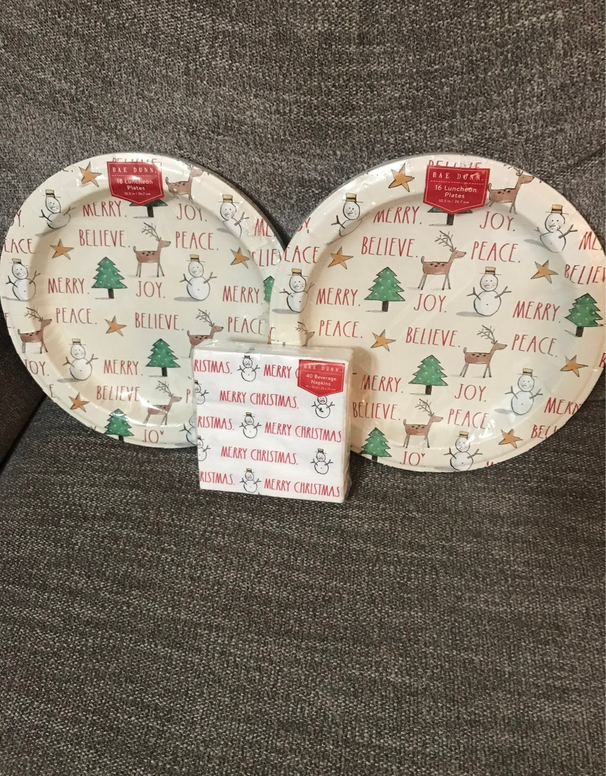Rae Dunn Holiday plates & napkins