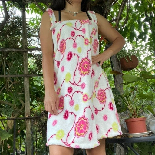 Floral Wrap Cover-Up Dress
