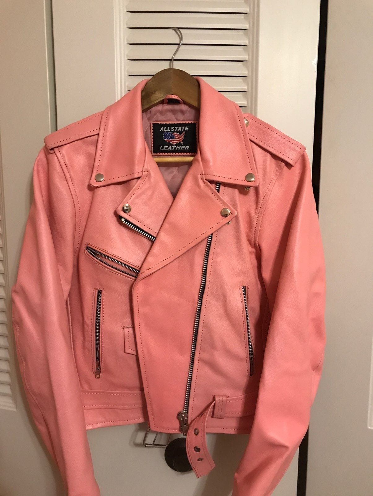 All State Leather Pink Leather Jacket