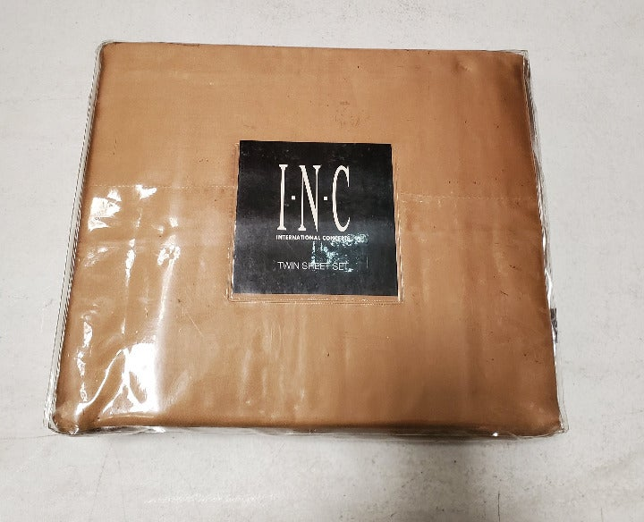 INC International Twin Sheet Set, Gold