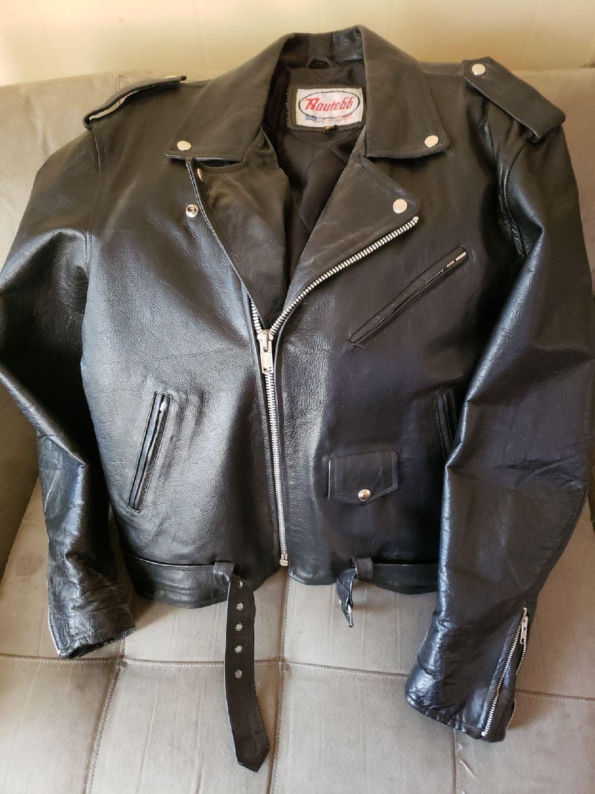leather motorcycle  jacket men