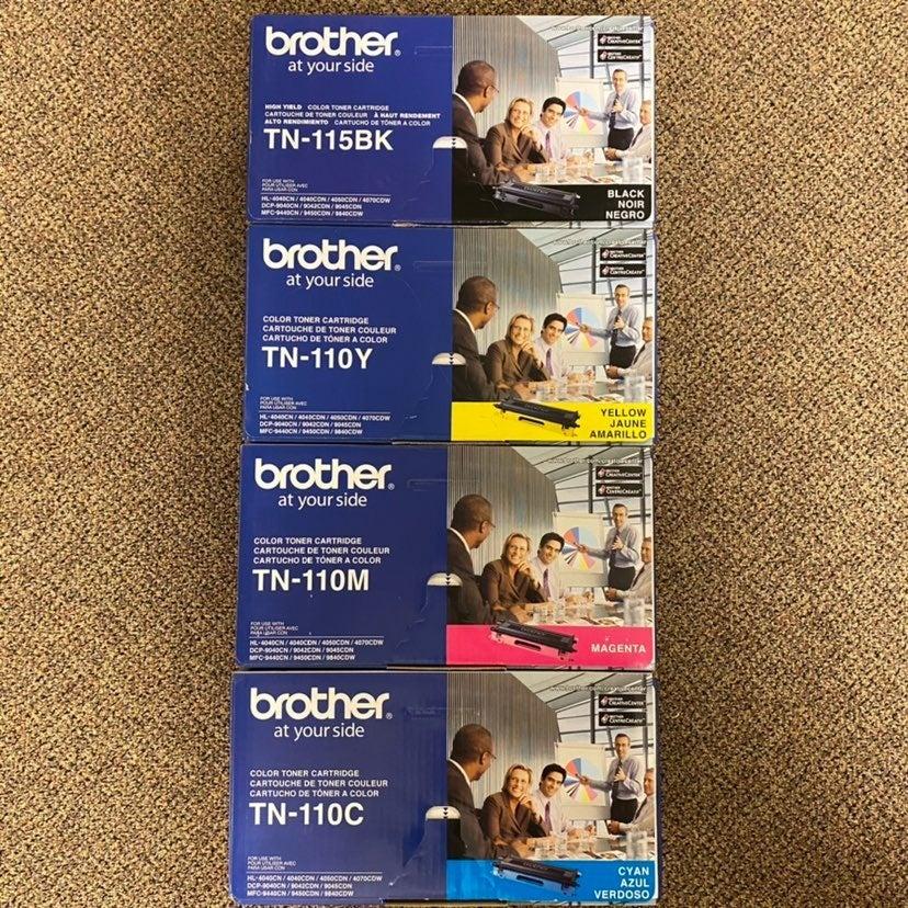 Brother Black, Yellow, Magenta & Cyan Toner Cartridges