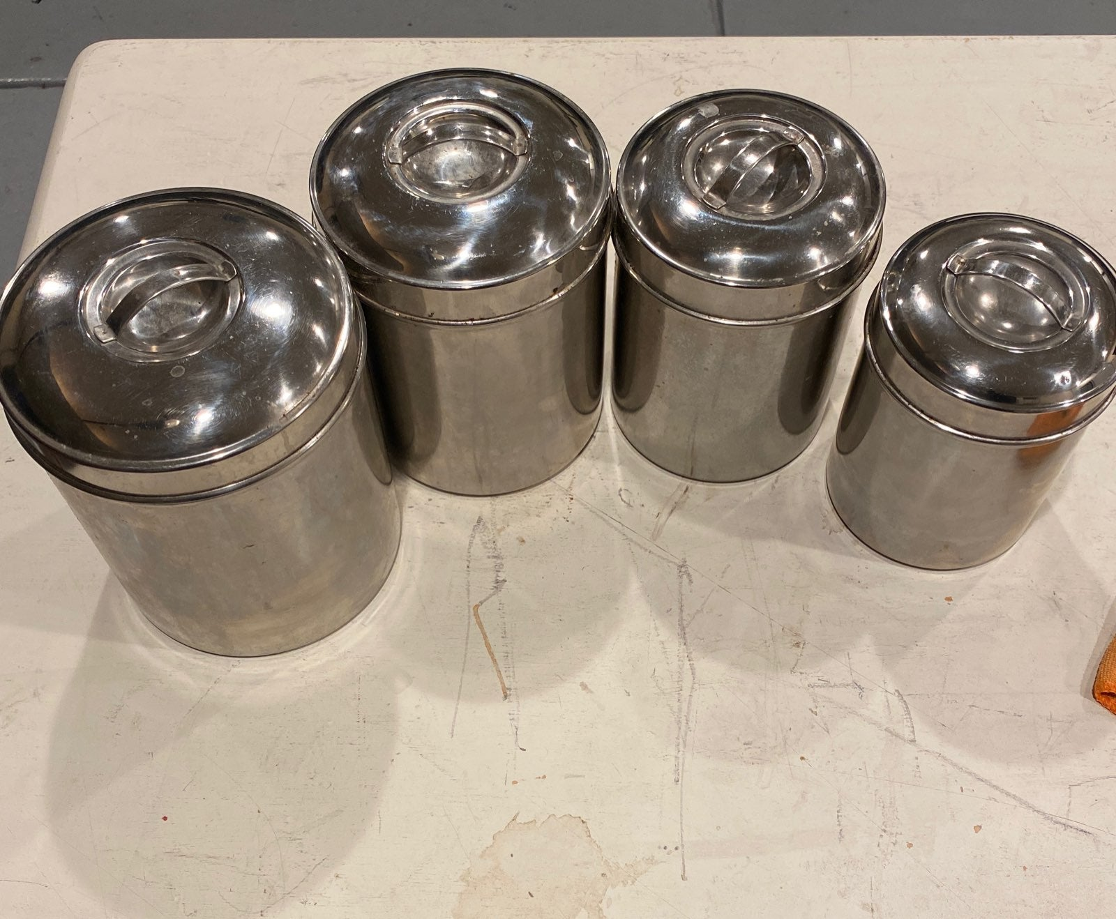 4 piece stainless steal canister set