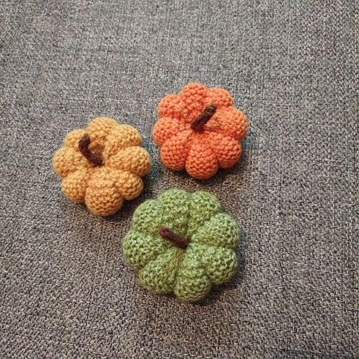 Hand Knit Pumpkins