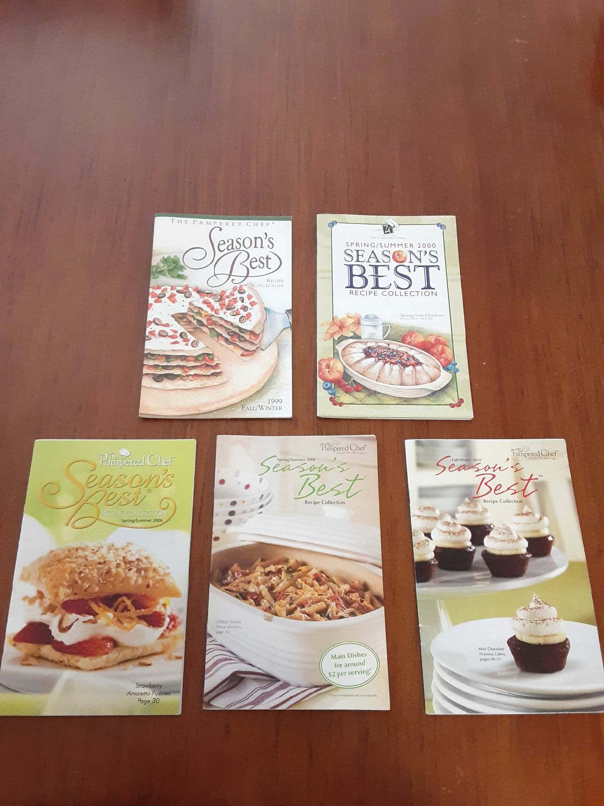 Pampered Chef recipe booklets