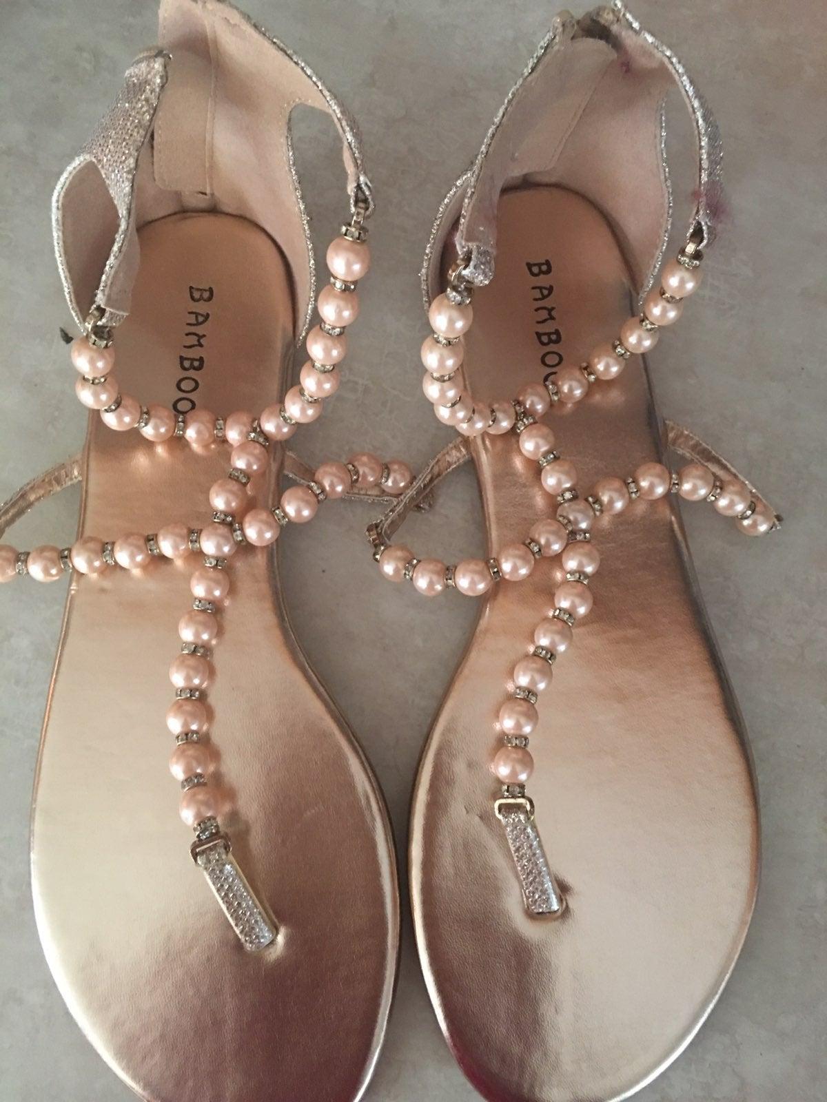 Beaded Gladiator Sandals 8.5