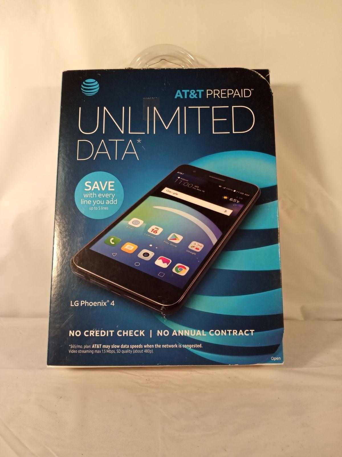 AT&T Prepaid LG Phoenix 4 Smartphone