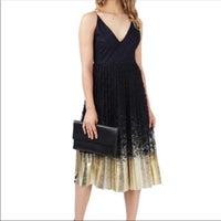 fec4862d08f Topshop Navy   Gold Foil Ombré Dress