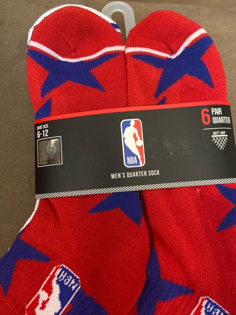NBA Men's Basketball Socks  Quarter Sock