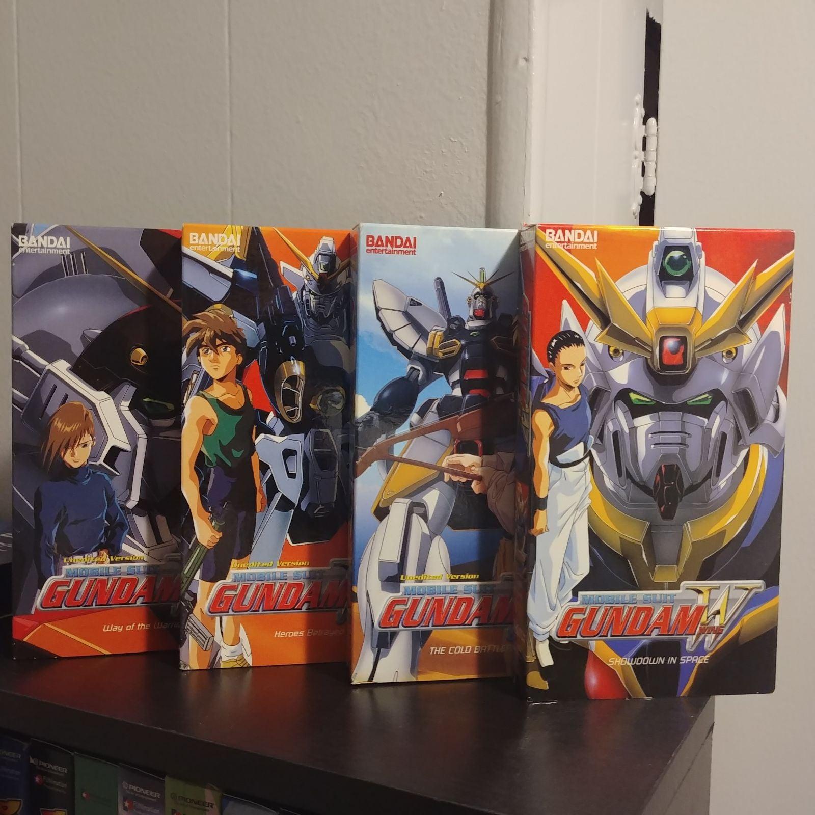 Gundam Wing Anime VHS lot x4
