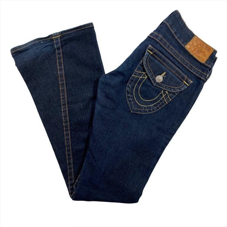 True Religion 27 Flare Jeans Twisted Hem