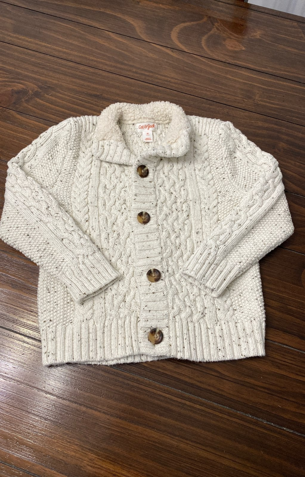 Kids Chunky Knit Cardigan Sweater