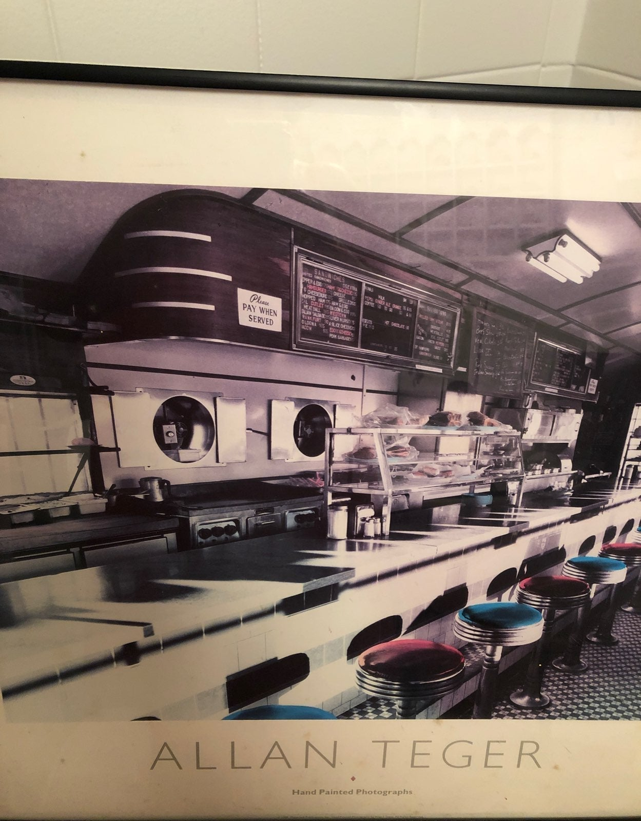 Allan Teger Diner Counter with Stools