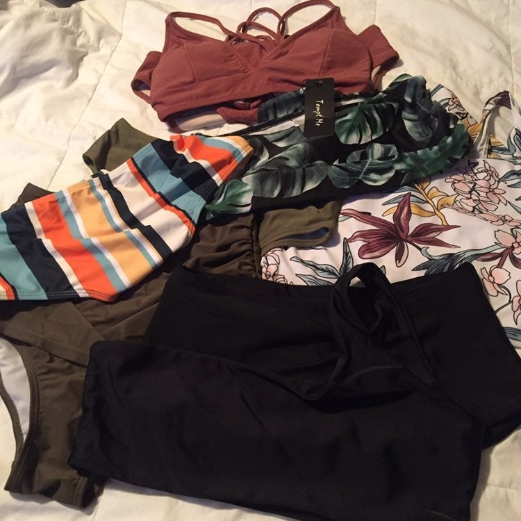 Lot of Swimsuits 7 pieces Size Small
