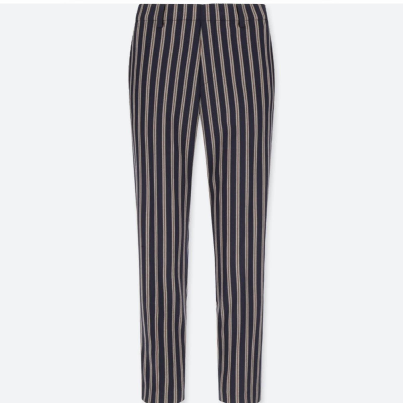Uniqlo Striped EZY Ankle Pants 28x29