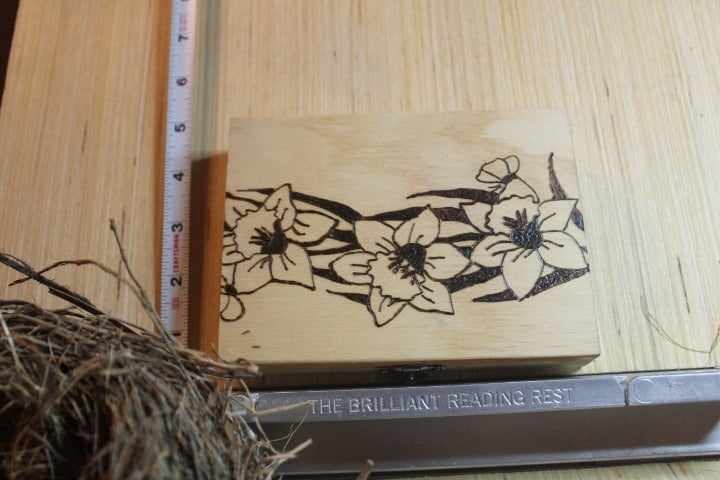 Wood burning Small Chest