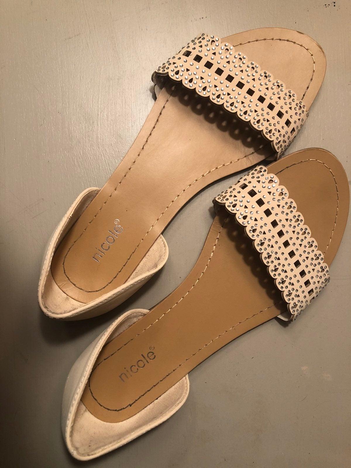 Nude Sandals with Rhinestones
