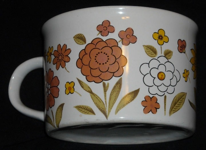 FTD 1982 Floral Large Coffee Soup Mug