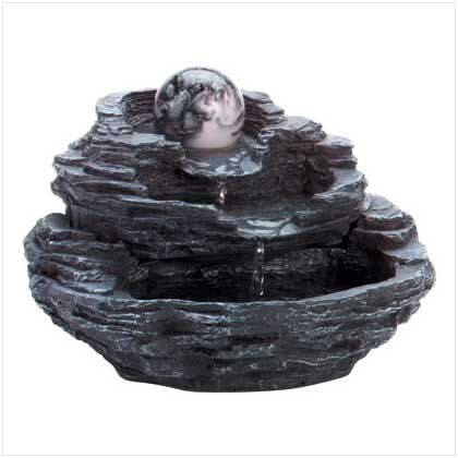 Rock tabletop fountain