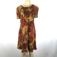b1937238f LIZ CLAIBORNE Autumn Floral Dress Small