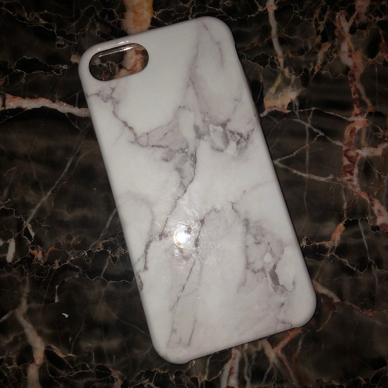 marble glossy iphone 6/7/8 case