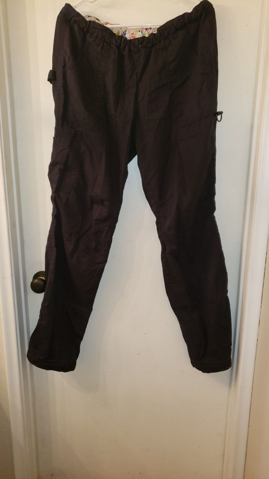 KOI cargo scrub pants TALL