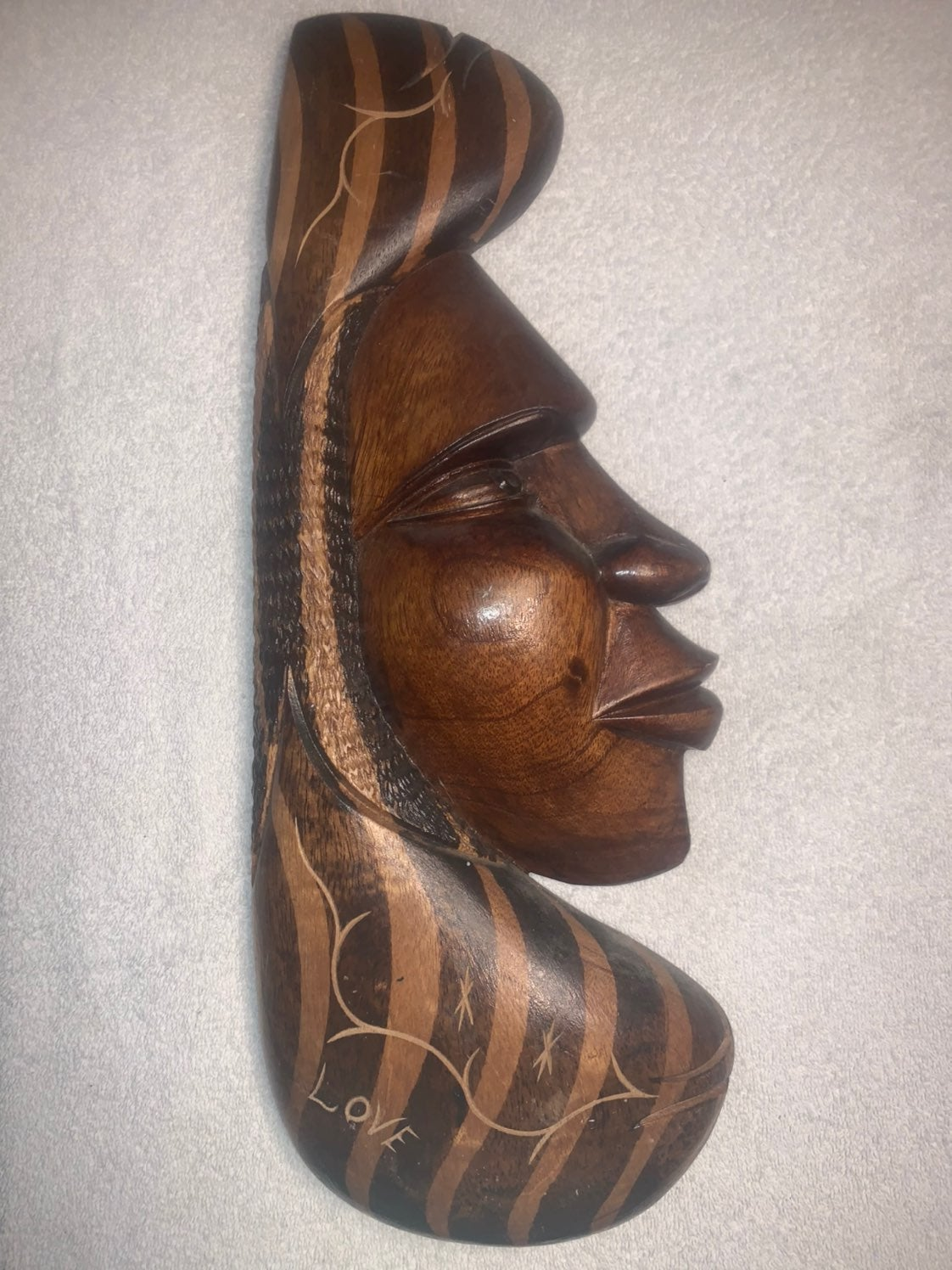 Handcrafted African Love Wooden Statue