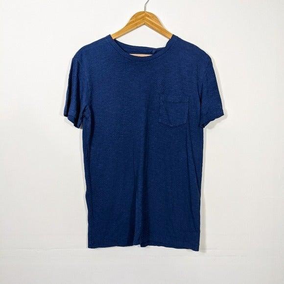 Vintage 1946 Blue Cotton Pocket T Shirt