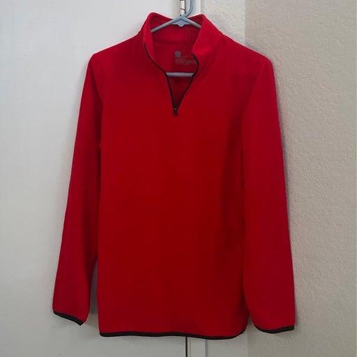 XERSION Red Quarter Zip sweater