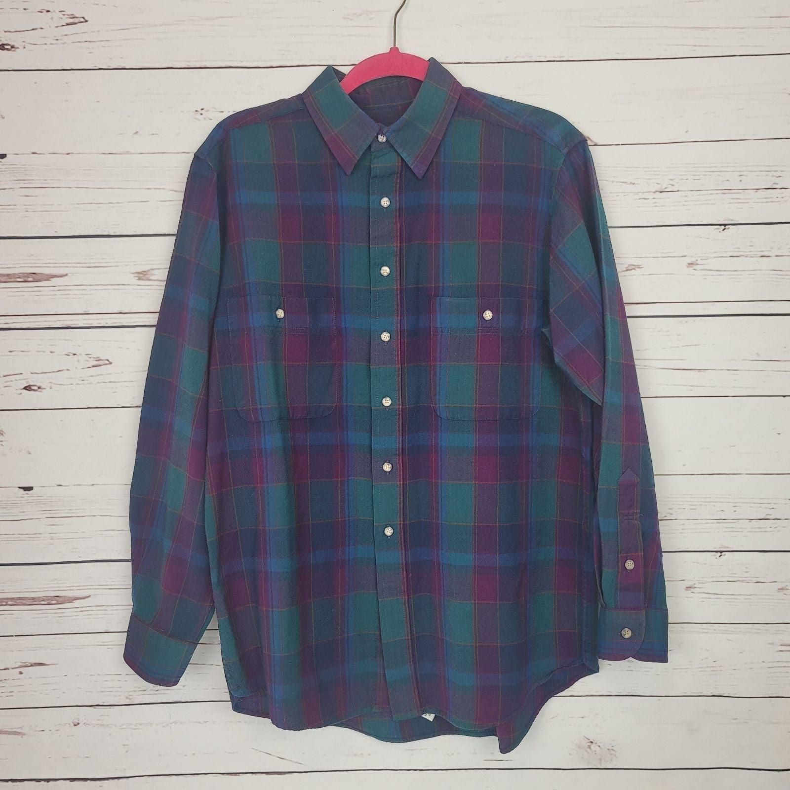 Pendelton Virgin Wool Plaid Shirt L