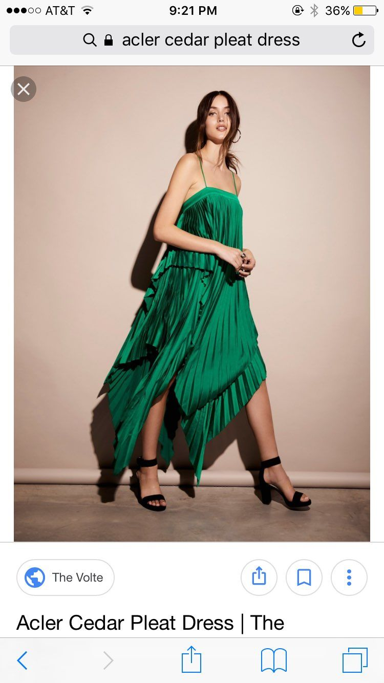 Acler Cedar Pleat Green Dress