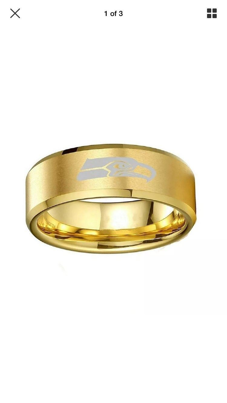Seattle Seahawks Gold Ring