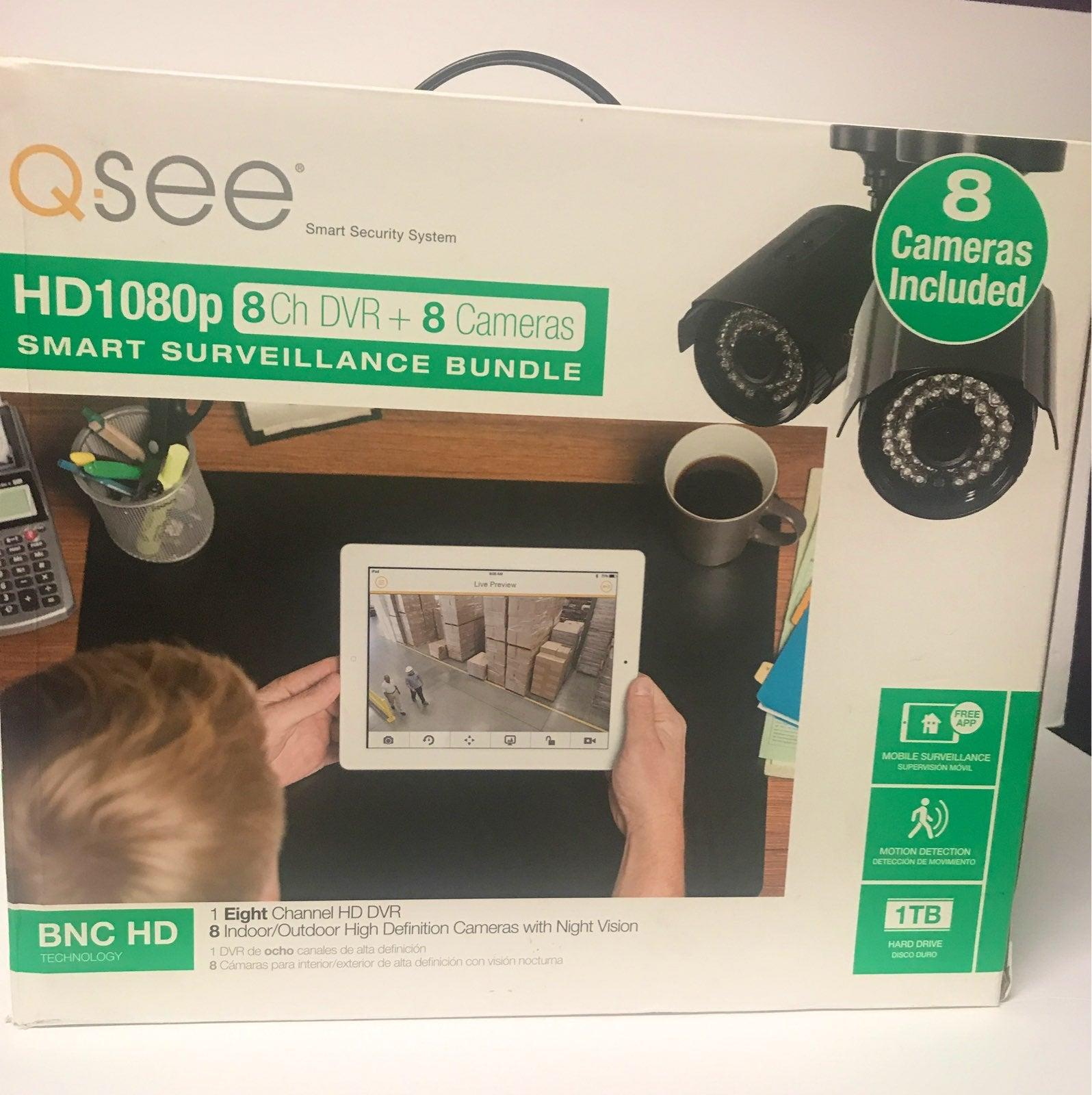 Q-See HD 1080p-8Ch Dvr + 8 Camera Smart