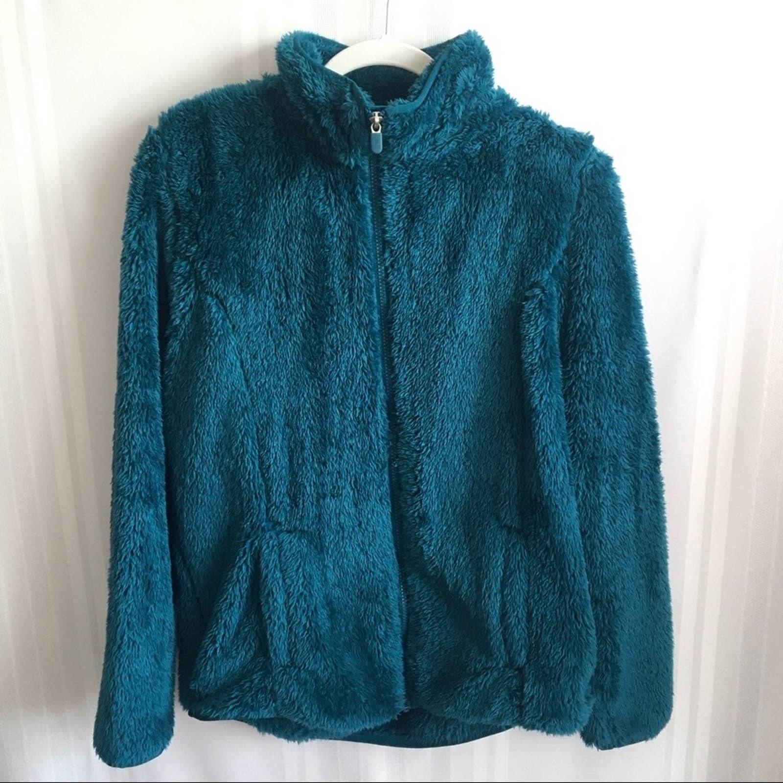 FILA Sport Faux Fur Fuzzy Zip Up Jacket