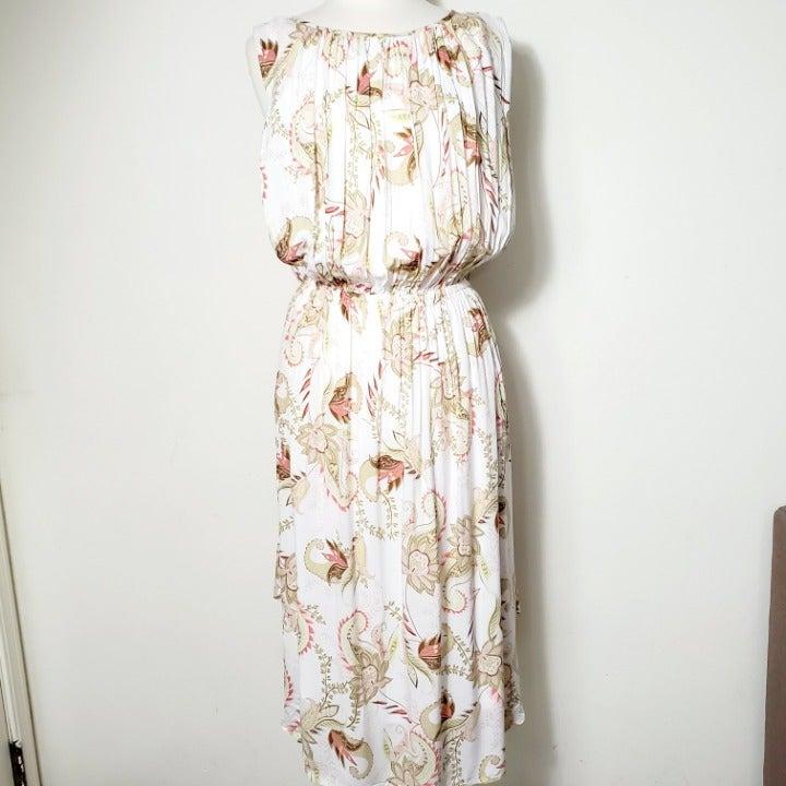 J. Jill Paisley Sleeveless Dress L NWOT