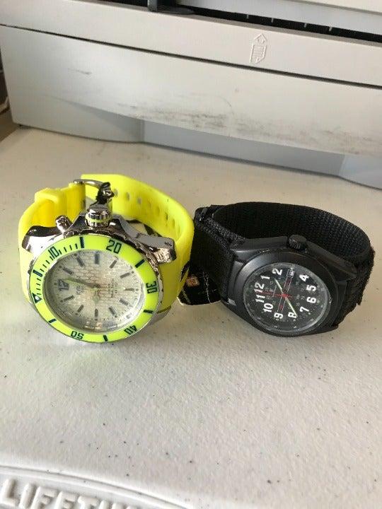 Smith & Wesson Mens Black Nylon Watch