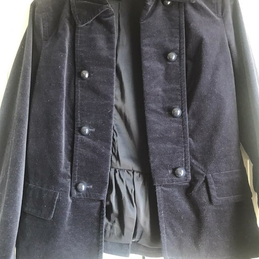 TALBOTS Dark Blue Velvet Jacket