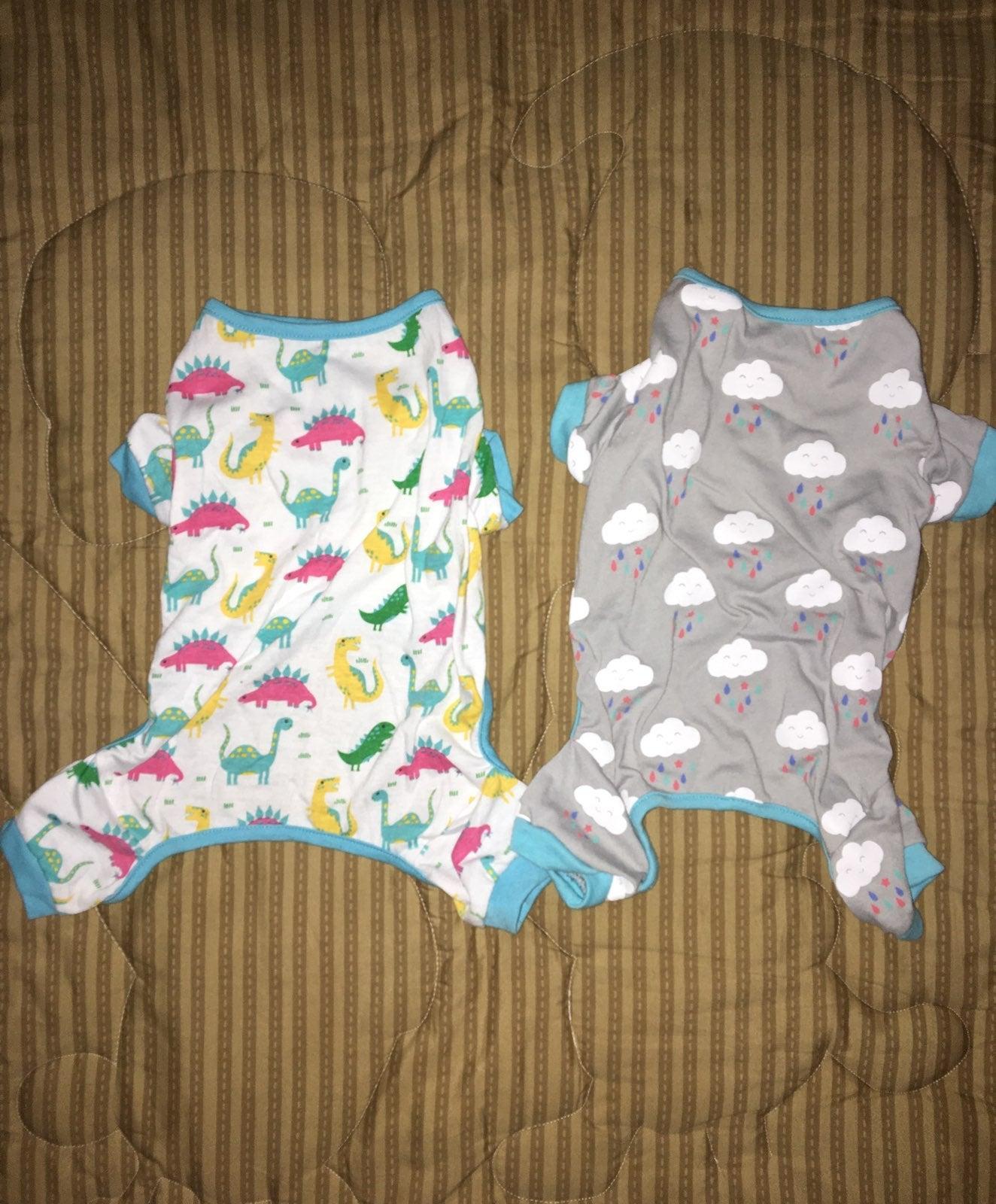TWO Frisco Small Dog/Cat Pajamas