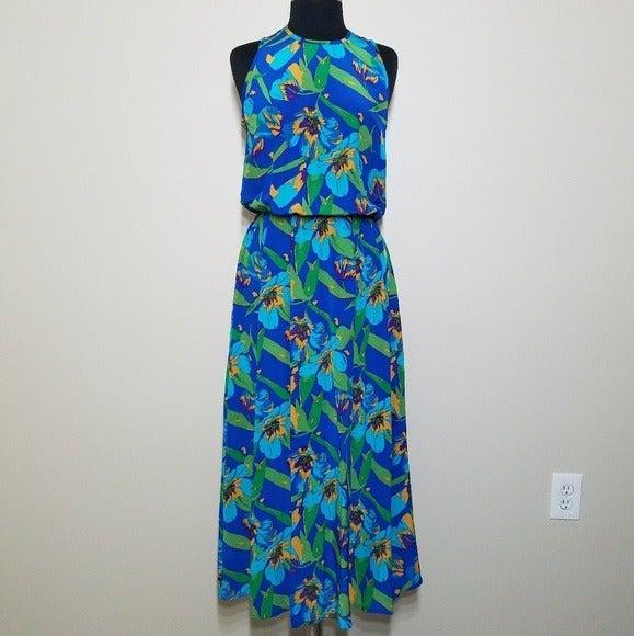 Gillian Floral Silk Sleeveless Dress