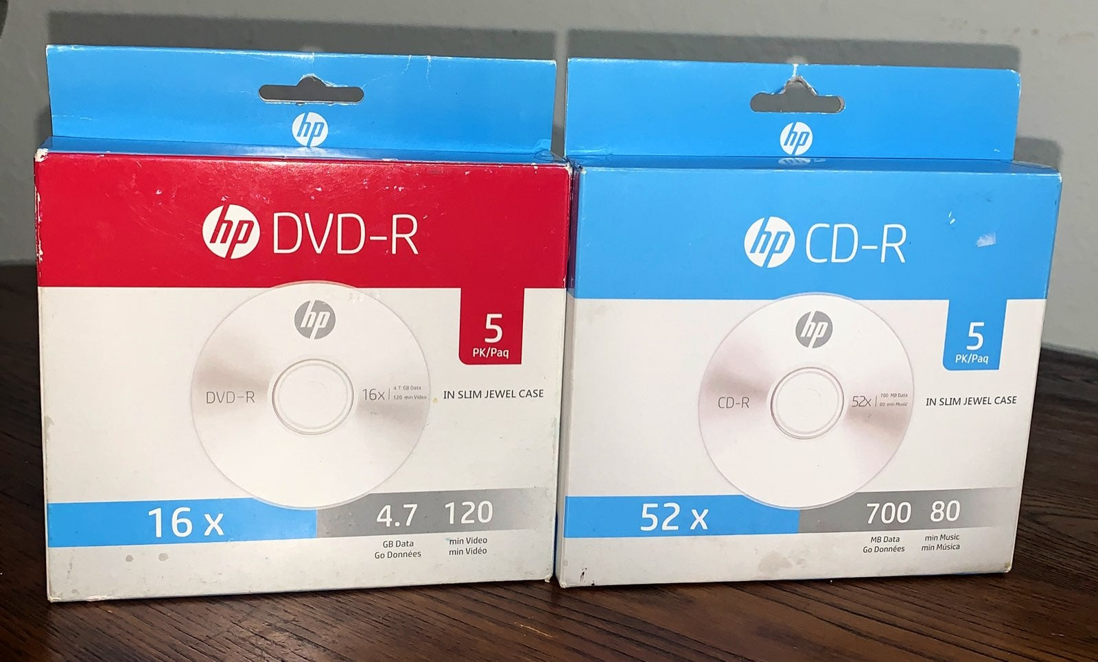 BRAND NEW! (2) pks HP DVD-R & CD-R Bundl
