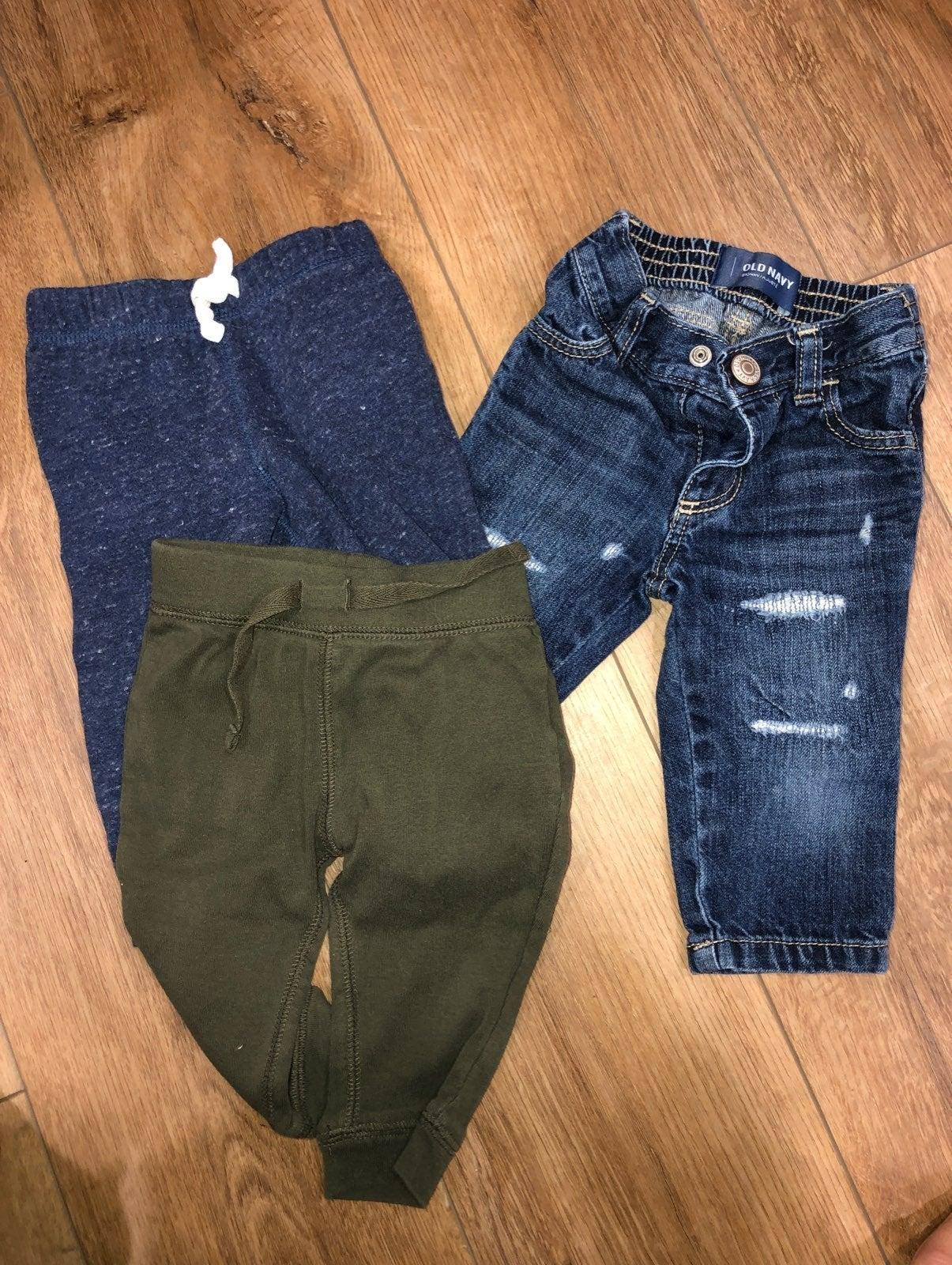 3 pair baby pants