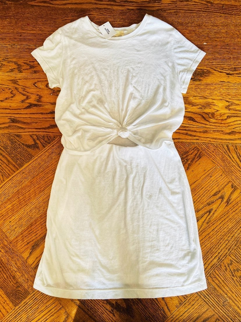 Urban Outfitters White T-shirt Dress