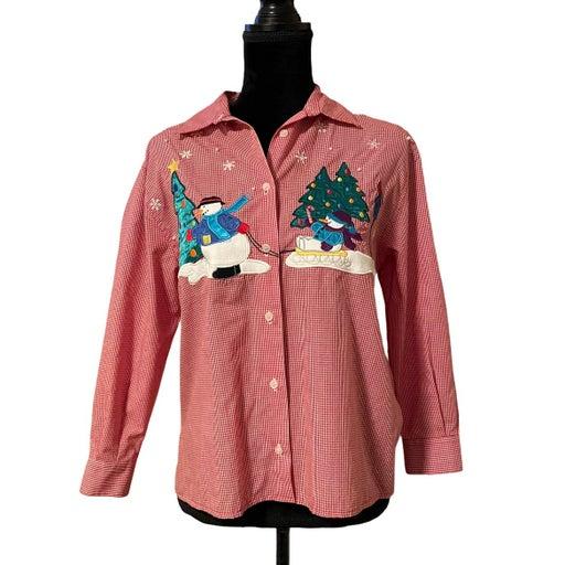 Karen Scott Holiday Snowman Shirt