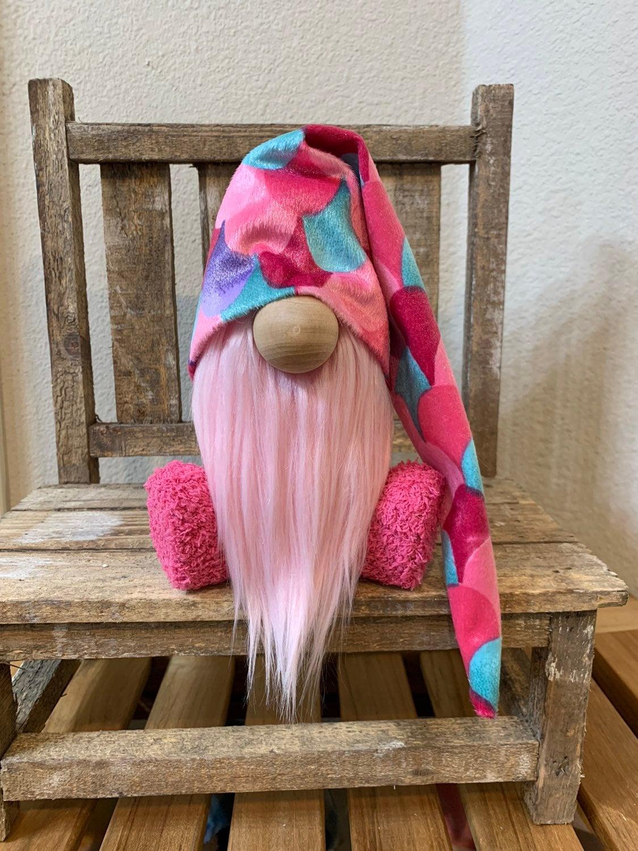 Pink Mermaid Gnome for Rae Dunn Displays