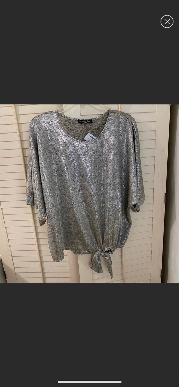 NWT silver blouse