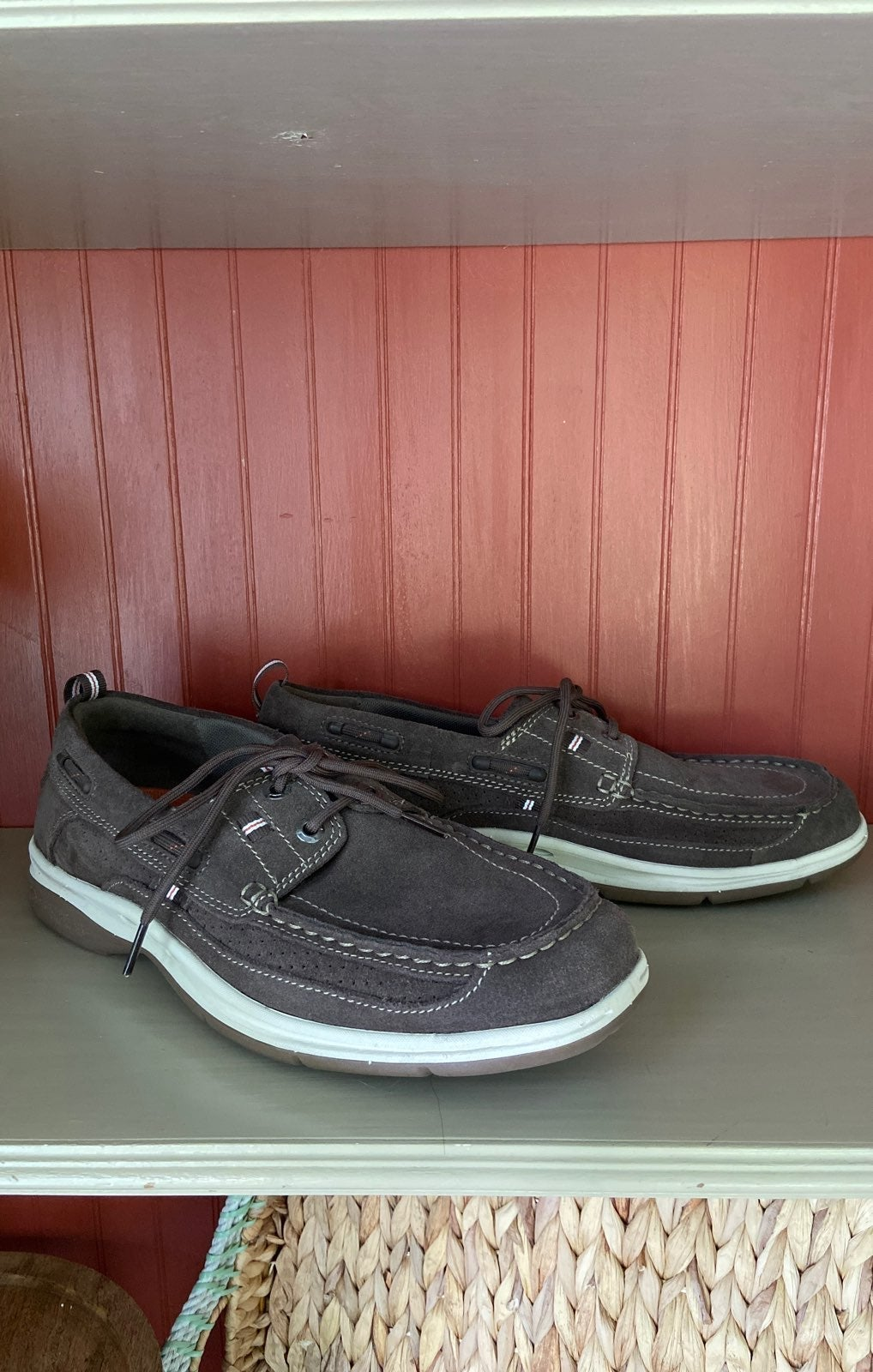 Mens Clarks Leather Casual Slip-On Shoes