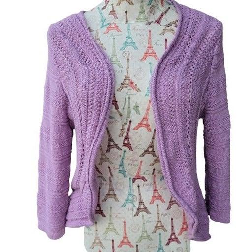 Croft & Barrow XL Purple Shrug Sweater